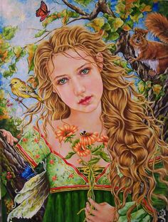 Sweet September Third in nature angel portraits Illustrations, Illustration Art, Fairy Original, Tres Belle Photo, Angel Art, Nature Paintings, Floral Paintings, Clipart, Canvas Art Prints