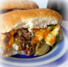 Delicious Beef and Cheese Sarnies . . .  Not Quite a Philly . . . from The English Kitchen