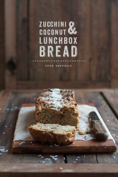 Zucchini Coconut Lunchbox Bread