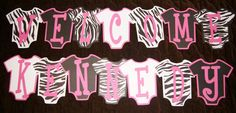 Image of Welcome Baby Zebra Print Baby Shower Onesie Banner Welcome Images, Cute Banners, Baby Zebra, Welcome Baby, Baby Party, Zebra Print, Party Planning, Onesie, Shower Ideas