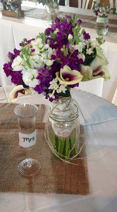Lauren's bouquet...Picasso callas and stock