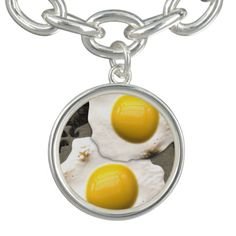 Fried sunny side up eggs in this digital art breakfast image.