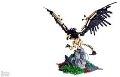 Royal Griffin from Witcher 3 is back for revenge in LEGO form Legos, Minecraft Statues, Lego Dragon, Lego Animals, Lego Activities, Lego Construction, Cool Lego Creations, Lego News, Lego Design