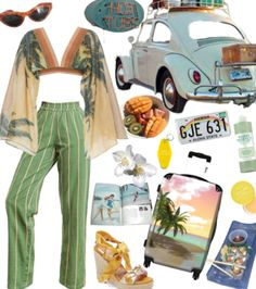 made for contest and also the beach trip i prob won't be going on this summer. Discover outfit ideas for vacation made with the shoplook outfit maker. How to wear ideas for Sugar Lemon Hydrating Lip and ! Vintage Outfits, 70s Outfits, Hippie Outfits, Cute Casual Outfits, 70s Inspired Outfits, 70s Inspired Fashion, Looks Hippie, Hippie Style, Aesthetic Fashion