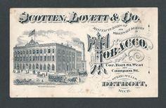 Scotten, Lovett & Co. - Tobacco Mfgs. - Detroit - Trade Card