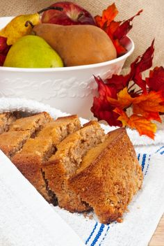 Seasonal Recipe: Cinnamon-Spiced Apple Bread This bread is great - I made three small loaves instead of one large one.