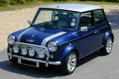 1963 Mini Cooper S in blue-i'll put a union jack flag on the roof