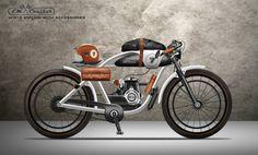 LM CRUISER - MOTORIZED BICYCLE by Nagabhushan Hegde, via Behance