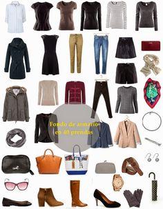 Tu Estilo A Diario : Fondo de armario: ¿tienes un fondo de armario equilibrado?-Toda mujer necesita: ropa íntima, chaquetas, pantalones, faldas, vestidos, camisetas, suéteres, camisas, zapatos y bolsos. Y recuerda, otra regla de oro: para sacarle el máximo partido a tus prendas, por cada parte inferior (pantalones, faldas), tienes que tener tres de la parte superior.