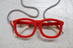 Knitted glasses by www.miraco.jp