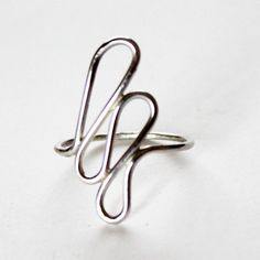 Silver Petals Ring  Sterling Silver Abstract Ring  by GetNoticed, $29.00