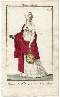 Journal des Dames et des Modes, 1799 Excellent portrayals of accessories.