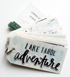 a shipping tag mini book by mambi Design Team member Theresa Doan | me & my BIG ideas