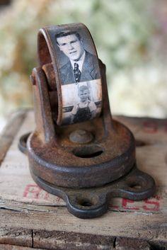 Mamie Janes: Caster Wheel Photo Paperweight