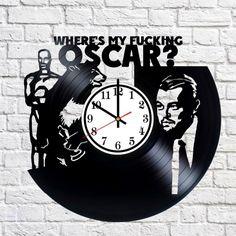 Leonardo DiCaprio LoL Handmade Vinyl Record Wall Clock Fan Gift - VINYL CLOCKS