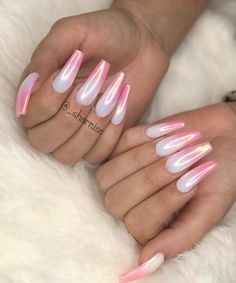 Sexy Nails, Glam Nails, Classy Nails, Trendy Nails, Aycrlic Nails, Pink Nails, Fancy Nails, Pink Chrome Nails, Summer Acrylic Nails