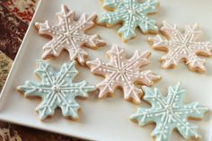 Snow Flake Icing Cookies by TH Bakes in Mumbai, India