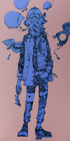 Art by 寺田克也 Katsuya Terada*  • Blog/Website | (www.cacazan.com) • Online Store | (https://www.teeparty.jp/pid/10090)  ★ || CHARACTER DESIGN REFERENCES™ (https://www.facebook.com/CharacterDesignReferences & https://www.pinterest.com/characterdesigh) • Love Character Design? Join the #CDChallenge (link→ https://www.facebook.com/groups/CharacterDesignChallenge) Share your unique vision of a theme, promote your art in a community of over 50.000 artists! || ★