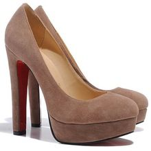 Women Fashion Genuine Suede Leather Platform 13cm Sexy High Heels Wedding Dress Party Pumps Shoes Size 35-41