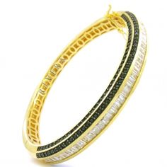 Bracelete Folheado Cravejado Com Zirconias Semi-joia - Rivera Jóias