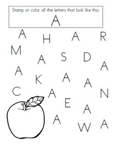 Great for pre-K letter recognition! Repinned by SOS Inc. Resources pinterest.com/sostherapy/.