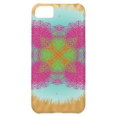 Teal Pink Green Orange Modern Abstract Design  on phone cases. A fantastic design in such lovely shades of teal, orange, green and pink, a modern big intricate abstract pattern; very pretty and stylish.