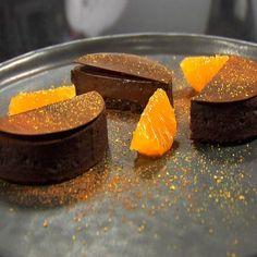 Tartelette chocolat aux clémentines de Corse de Yann Couvreur, chef pâtissier de l'hôtel Le Prince de Galles