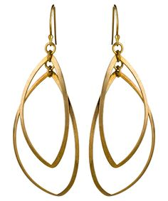 Double Curved Oval Earrings