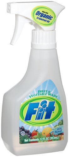 Fit Fruit And Vegetable Wash, 12-Ounce Spray Bottles (Pack of 6)