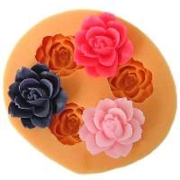 Rose flower silicone mold