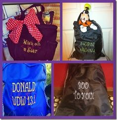 Disney and Thirty-One bags  ((Like this--*Isaac, Elija, Ryleigh and Branson* WDW *14*.... For autographs?!))