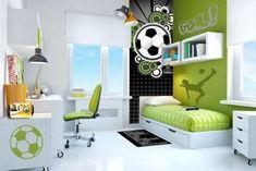 decoracion de cuartos de niños de futbol
