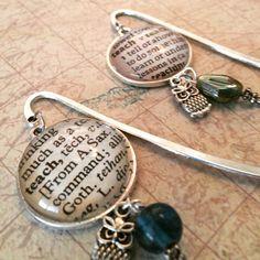Word pendant bookmarks