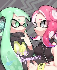 Splatoon Agent 8 x Agent 3 by もちたいち ( Nintendo Splatoon, Splatoon 2 Art, Splatoon Comics, Nintendo Games, Fire Emblem, Couple Drawings, Video Game Art, Super Mario Bros, Fanart
