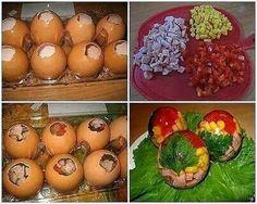 Aspik ve vajíčku                                                           huspeninový vývar alebo aspik pripravený z neochutenej želatíny a bujónu, soľ, uvarená zelenina (mrkva, hrášok, cibuľa, pažítka), prípadne aj vajíčka, šunka