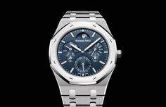 Audemars Piguet - Royal Oak Selfwinding Perpetual Calendar Ultra-Thin Ref. Luxury Watches, Rolex Watches, Audemars Piguet Royal Oak, Perpetual Calendar, Blue Satin, Omega Watch, In The Heights, Product Launch