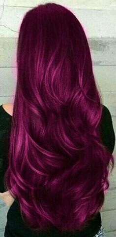 This magenta hair is to die for! This magenta hair is to die for! - Station Of Colored Hairs Hair Color Purple, Hair Dye Colors, Cool Hair Color, Purple Tips, Dark Purple, Dyed Hair Purple, Pinkish Red Hair, Wild Hair Colors, Cool Hair Dyed