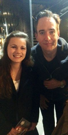 sassyraul:  Matthew and I after Jeeves & Wooster over 2 months ago now :O Time really does go so quickly!!! :(