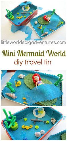 Mini Mermaid DIY Travel Tin | Little Worlds Big Adventures