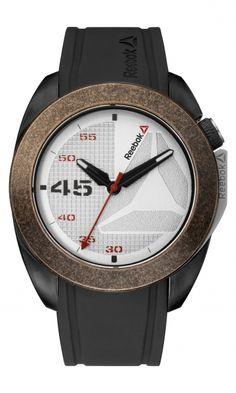 f14129e1697508 Reebok Sidekick Oxo Mens Analog Japanese-Quartz Bronze Watch with Black  Silicone strap -