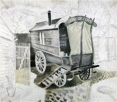 Eric Ravilious: 'Church Army Wagon', 1935 (unfinished)