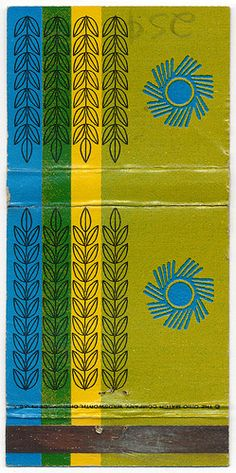 vintage Saul Bass matchbook covers for Hunt-Wesson