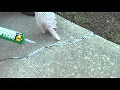 Repair cracks in your driveway tutorial