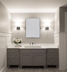 I like the idea of sconces vs over-vanity lighting to provide a more useful task light at the sink. I think we could combine this with dimmable can lights in the ceiling (maybe one in the shower, one or two in the main area?) to create some friendly, useful lighting in the bathroom.