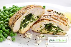 Total Choice Spinach Stuffed Chicken : Enjoy restaurant taste in the comfort of your own kitchen. Eat this recipe on the Total Choice 1600-calorie plan.