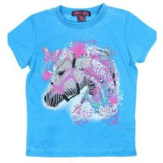 Rock & Roll Cowgirl Kid's Horse Graphic Short Sleeve Tee
