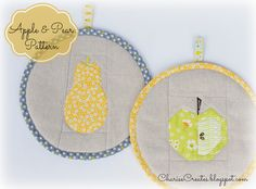 Charise Creates: Apple and Pear ~ Free Paper Piecing Patterns!