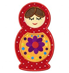 Doll-2 Embroidery Design In Both Applique And Stitch Versions Exclusively For Members at: www.embroideryocean.com