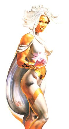 Storm by either Boris Vallejo or Julie Bell. Either way, the model is Julie Bell. Marvel Comics Art, Bd Comics, Comics Girls, Marvel Heroes, Marvel Vs, Comic Book Characters, Comic Character, Comic Books Art, Female Characters