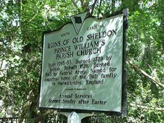Old Sheldon Church Ruins (Yemassee, SC) on TripAdvisor: Address, Phone Number, Top-Rated Historic Site Reviews. Photo by jlantern3.
